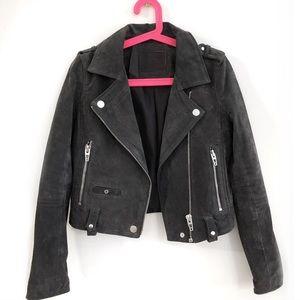 Suede Motto Jacket